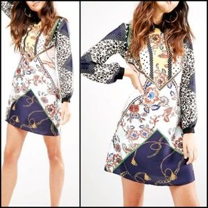 RIVER ISLAND Print Mash Shirt Dress!